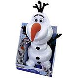 """Мягкая игрушка """"Снеговик Олаф"""" (смеется, вращается, вибрирует), 35 см, Холодное сердце"""
