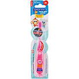 """Мигающая зубная щётка на присоске """"Забавные зверята"""", 3-6 лет LONGA VITA, розовый"""