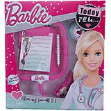 Игровой набор юного доктора компактный, Barbie