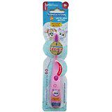 """Музыкальная зубная щётка """"Забавные зверята"""", 3-6 лет, LONGA VITA, розовый"""