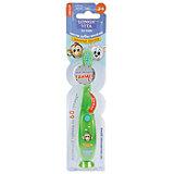 """Мигающая зубная щётка на присоске """"Забавные зверята"""", 3-6 лет LONGA VITA, зеленый"""