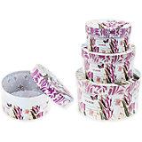 Набор подарочных коробок Тюльпаны, круглые, 3 шт., Schreiber
