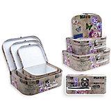 Набор подарочных коробок Прованс, чемоданчики, 3 шт., Schreiber