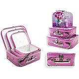 Набор подарочных коробок Розовые Нарциссы, чемоданчики, 3 шт., Schreiber