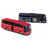 Модель автобуса Mercedes-Benz, красная, Welly