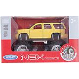 Модель машины 1:34-39 Chevrolet Tahoe Big Wheel, жёлтая, Welly