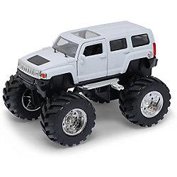 Модель машины 1:34-39 Hammer H3 Big Wheel, белая, Welly