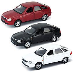 Модель машины 1:34-39 LADA PRIORA, черная, Welly