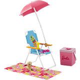"""Набор мебели """"Пляжный шезлонг и вентилятор"""" из серии """"Отдых на природе"""", Barbie"""