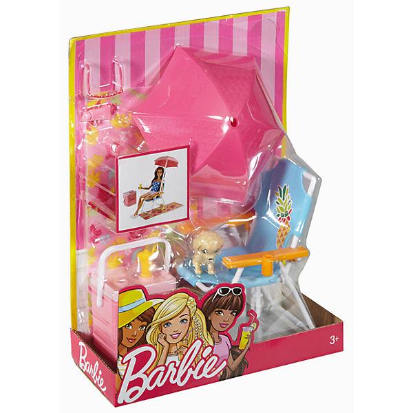 barbie m bel au enbereich strandausflug set barbie mytoys. Black Bedroom Furniture Sets. Home Design Ideas