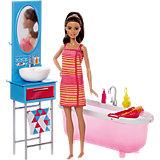 """Набор мебели с куклой """"Ванная комната"""", Barbie"""