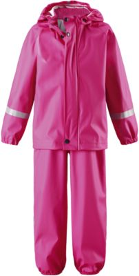 Непромокаемый комплект Tihku: куртка и брюки для девочки Reima - розовый