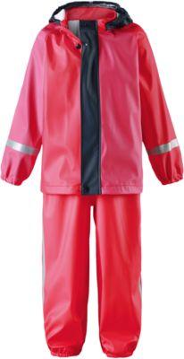Непромокаемый комплект Tihku: куртка и брюки для девочки Reima - красный