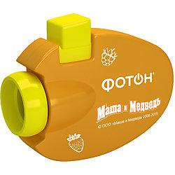 """Мультфонарик-проектор """"Маша и Медведь"""", оранжевый, Фотон"""
