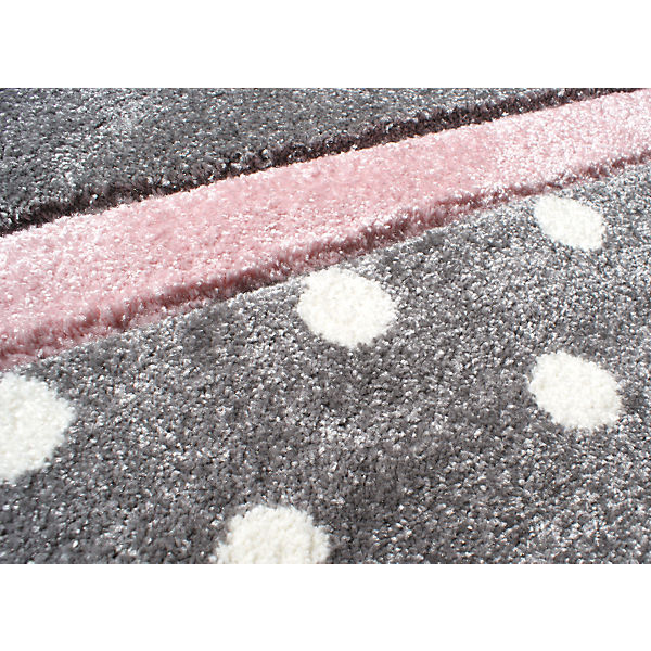 teppich point silbergrau rosa happy rugs mytoys. Black Bedroom Furniture Sets. Home Design Ideas