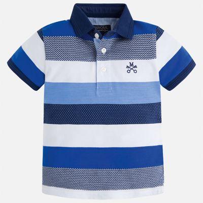 Футболка-поло для мальчика Mayoral - голубой