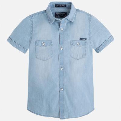 Рубашка джинсовая для мальчика Mayoral - синий
