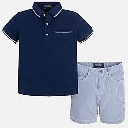 Комплект: футболка-поло и шорты для мальчика Mayoral