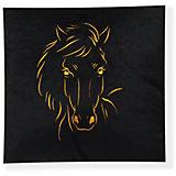 Декоративная подушка Лошадь арт. 1845, Small Toys, черный