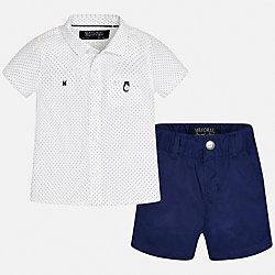 Комплект: шорты и рубашка для мальчика Mayoral