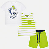 Комплект: футболка, майка и шорты для мальчика Mayoral