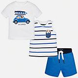 Комплект: боди, футболка и ползунки для мальчика Mayoral