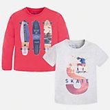 Комплект: футболка и футболка с длинным рукавом для мальчика Mayoral