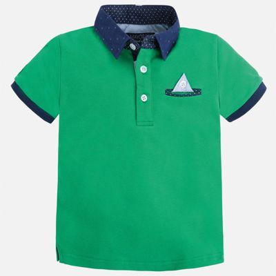 Футболка-поло для мальчика Mayoral - зеленый
