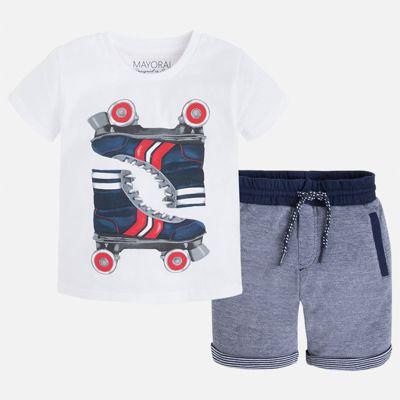Комплект: бриджи и футболка для мальчика Mayoral - белый
