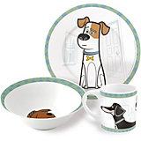 """Набор керамической посуды """"Тайная жизнь домашних животных"""" (3 предмета)"""