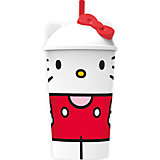 """Стакан """"Вишневый джем"""" с соломинкой и крышкой (400 мл), Hello Kitty"""