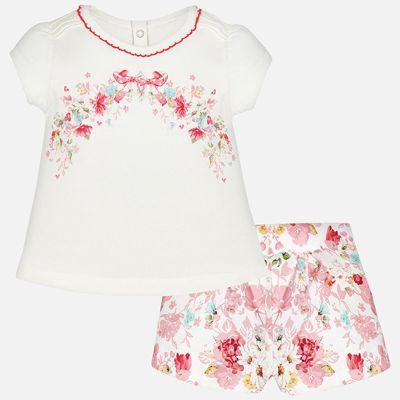 Комплект: футболка и шорты для девочки Mayoral - оранжевый