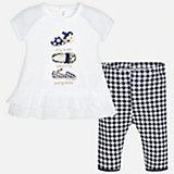 Комплект: футболка с длинным рукавом и бриджи для девочки Mayoral