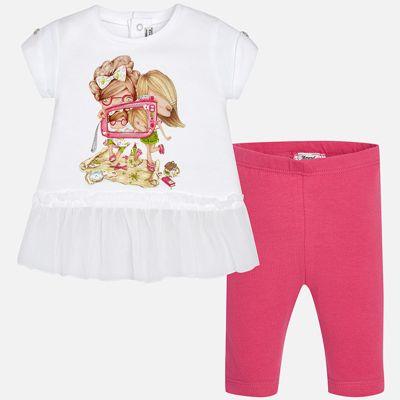 Комплект: футболка и леггинсы для девочки Mayoral - розовый