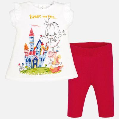 Комплект: футболка и леггинсы для девочки Mayoral - красный