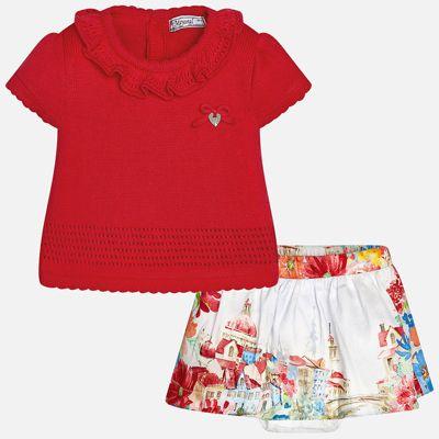 Комплект: топ и юбка для девочки Mayoral - красный