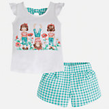 Комплект: футболка и шорты для девочки Mayoral