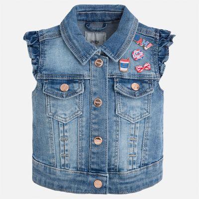 Жилет джинсовый для девочки Mayoral - голубой