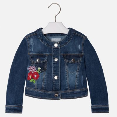 Куртка джинсовая для девочки Mayoral - белый