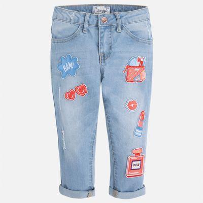 Бриджи джинсовые для девочки Mayoral - синий
