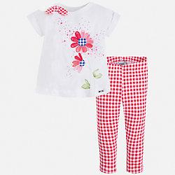 Комплект: футболка и бриджи для девочки Mayoral