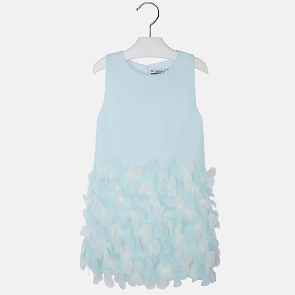 Mayoral голубое платье