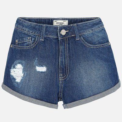Шорты джинсовые для девочки Mayoral - голубой