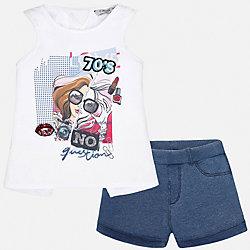 Комплект: топ и шорты для девочки Mayoral