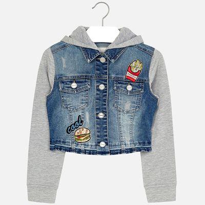 Куртка джинсовая для девочки Mayoral - голубой