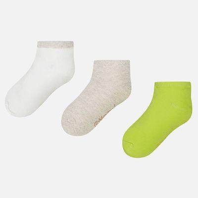 Носки (3 пары) для девочки Mayoral - зеленый