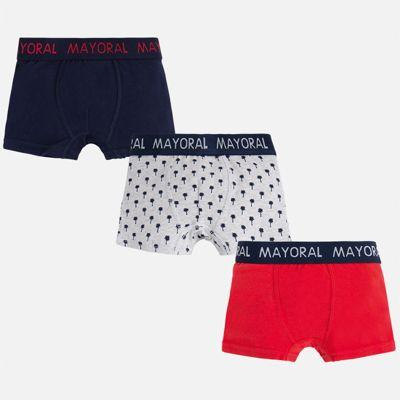 Трусы (3 пары) для мальчика Mayoral - красный