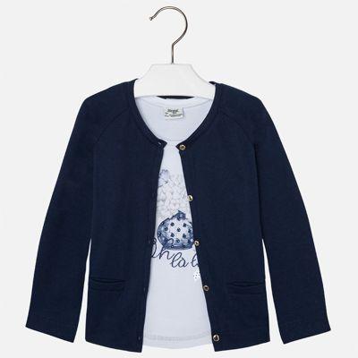 Комплект: топ и кардиган для девочки Mayoral - синий