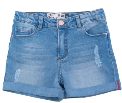 Шорты джинсовые для девочки SELA - голубой
