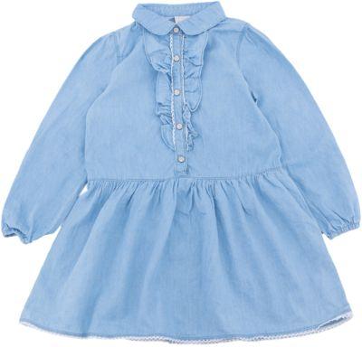 Платье джинсовое для девочки SELA - синий джинс